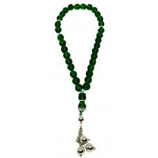 Тасбих-четки Материал хрусталь, цвет - темно зеленый